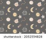 cute vector cartoon cosmic... | Shutterstock .eps vector #2052554828