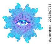 seraphim with blue eye....   Shutterstock .eps vector #2052567785