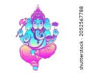 beautiful hand drawn tribal...   Shutterstock .eps vector #2052567788