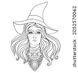 wiccan witch. vector...   Shutterstock .eps vector #2052570062