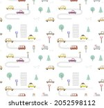 seamless vector pattern with... | Shutterstock .eps vector #2052598112