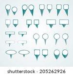 marks position | Shutterstock .eps vector #205262926