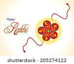 abstract raksha bandhan... | Shutterstock .eps vector #205274122