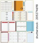 collection of vector notebooks | Shutterstock .eps vector #205274698