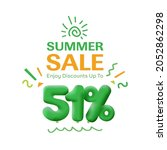 special offer sale 51  discount ... | Shutterstock .eps vector #2052862298