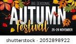 november autumn festival... | Shutterstock .eps vector #2052898922