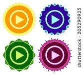 set of colorfu lbutton.vector... | Shutterstock .eps vector #205290925
