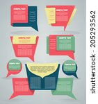 vector collection of different... | Shutterstock .eps vector #205293562