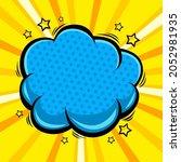 comic pop art cloud bubble....   Shutterstock .eps vector #2052981935