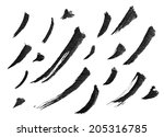 collection of chinese ink... | Shutterstock . vector #205316785