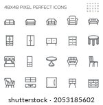 furniture. sofa  couch  table ... | Shutterstock .eps vector #2053185602