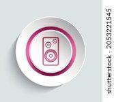 loudspeakers ui button in...