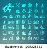human resource icons  retina... | Shutterstock .eps vector #205326862