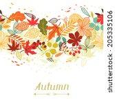 Background Of Stylized Autumn...