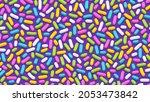 Seamless Pattern Of Purple...
