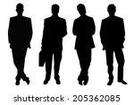 four black businessmen... | Shutterstock . vector #205362085