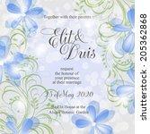 wedding invitation | Shutterstock .eps vector #205362868