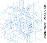 abstract isometric computer... | Shutterstock .eps vector #205372435