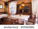 restaurant interior | Shutterstock . vector #205383886