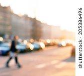 street in european city in... | Shutterstock . vector #205386496