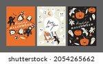 vector illustration halloween...   Shutterstock .eps vector #2054265662