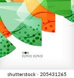 modern futuristic techno... | Shutterstock .eps vector #205431265