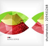 abstract geometric shapes... | Shutterstock .eps vector #205431268