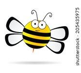cute bee vector illustration on ...   Shutterstock .eps vector #205435975