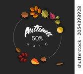 autumn dark minimalist sale... | Shutterstock .eps vector #2054398928