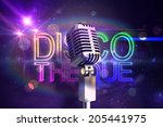 retro chrome microphone against ... | Shutterstock . vector #205441975