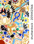 abstract colorful mosaic...   Shutterstock . vector #205442566