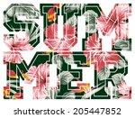 Summer  Vector Floral Artwork...