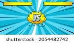 comic versus fight background...   Shutterstock .eps vector #2054482742