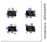 designer skills glyph icons set....