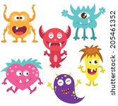 cute monster set | Shutterstock .eps vector #205461352