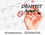 dentist appointment date on... | Shutterstock . vector #205466596