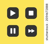 modern video buttons icons ...