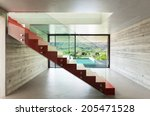 Interior  Red Staircase In...