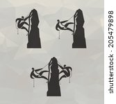 climber icons. vector format | Shutterstock .eps vector #205479898