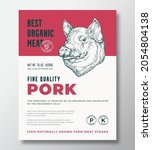 best organic meat abstract...   Shutterstock .eps vector #2054804138