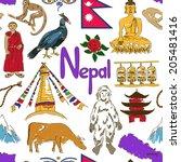 Fun Colorful Sketch Nepal...