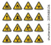 vector illustration of danger... | Shutterstock .eps vector #205488136