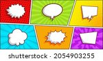 colorful comic panel background ...   Shutterstock .eps vector #2054903255