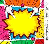 colorful comic background with...   Shutterstock .eps vector #2054904218
