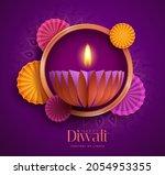 happy diwali. paper graphic of... | Shutterstock .eps vector #2054953355