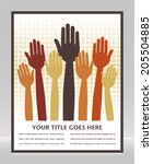 voting hands design with space... | Shutterstock .eps vector #205504885