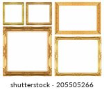 the golden picture frame... | Shutterstock . vector #205505266