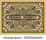 whiskey label with old frames   Shutterstock .eps vector #2055065645