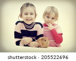 smiling children  | Shutterstock . vector #205522696