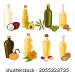 different oil bottle design... | Shutterstock .eps vector #2055323735